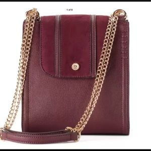 LC LAUREN CONRAD NWT Red Chocolate Crossbody Bag